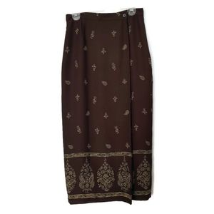 Chaus faux-wrap maxi skirt in 10